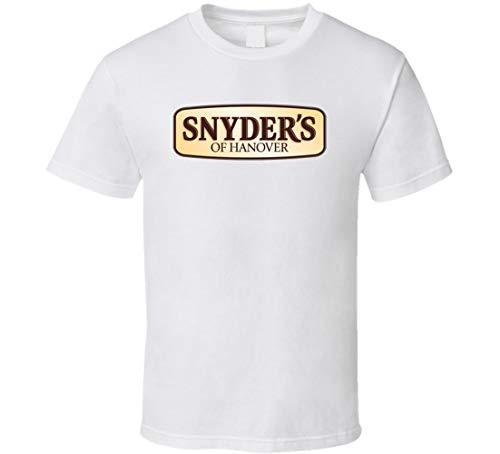 YILUFA Snyder's of Hanover Populäres T-Shirt für Snack-Liebhaber, Weiß Gr. L, Schwarz