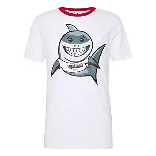 Moschino T-Shirt Uomo Bianca Con Logo 1908 Bianco XL