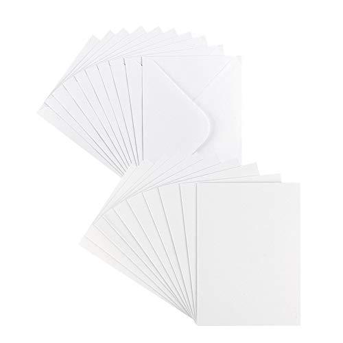 Grußkarten-Set | Perlmutt-Veredelung | 10 Karten ca. 250 g/m² + 10 Umschläge ca. 120 g/m² | In Weiß | 11,5 cm x 16,5 cm (B6)