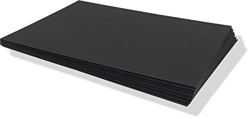 Artservice Präsentationspappen Präsentationscharts matt schwarz/schwarz, 1,5mm Stärke, 25 Stück (A3)