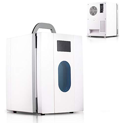 10 litres Mini Réfrigérateur Portable Frigo avec Fenêtre et Poignée Glaciere Electrique de Voiture 48W - Plateau Amovible 12V / 220V Range Plage de Températures Entre 3 ° C Et 65 ° C