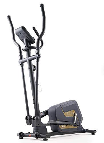 HS HOP-SPORT Vélo elliptique magnétique HS-055C Corsa Doré| roulettes de Transport