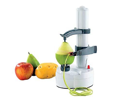 NEEZ Automático y Eléctrico Mondador Peladores Manzanas Patata Vegetal Fruta Peladura Máquina Cocina Cortador Herramienta (Blanco)
