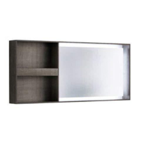 Geberit Citterio verlicht spiegelelement 500571JJ1, met plank, 133,4x58,4x14cm, houtstructuur eik grijsbruin - 500.571.JJ.1