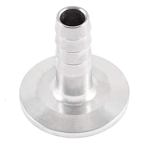 """Nannan Hose Barbed Adapter,KF-25 to Rubber Hose Nozzle, Transition Fitting,OD=1/2"""", ISO-KF Flange Size NW-25, 304 Stainless Steel Hose Pipe Fitting Hawaii"""