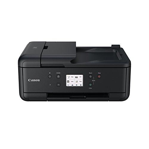Canon PIXMA TR7550 4800 x 1200DPI Tintenstrahl A4 WLAN - Multifunktionsgeräte (Tintenstrahl, 4800 x 1200 DPI, 100 Blätter, A4, Direkter Druck, Schwarz)