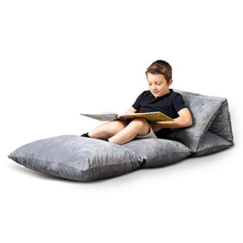 Milliard Floor Lounger - Includes Cover and Pillows! / 5 Pillow Bed/Sleeping Bag for Kids and Toddlers, Girls and Boys/Queen Size