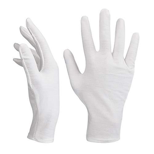 Baumwollhandschuhe Weiß,14 Paar Baumwolle Handschuhe,Care Schutzhandschuhe,Weiße Stoff Handschuhe,Bequem und Atmungsaktiv Arbeitshandschuhe für Hautpflege, Schmuck Untersuchen, Tägliche Arbeit