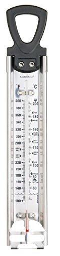 KitchenCraft Home Made Zuckerthermometer fürs Kochen für Süßigkeiten oder Marmelade, zum Frittieren und für Den Allgemeinen Gebrauch in Der Küche, Edelstahl, 30,5cm