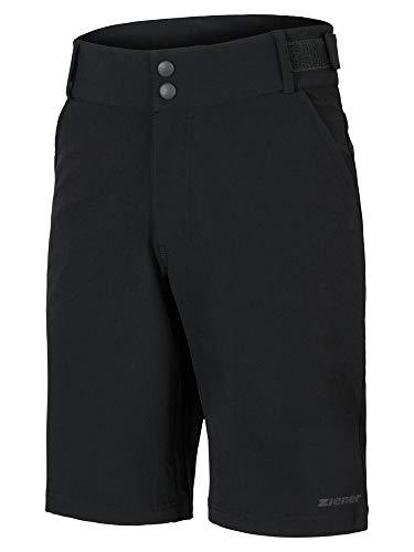 Ziener Herren PHILIAS X-Function Fahrrad-Shorts/Rad-Hose Mit Innenhose/Mountainbike - Atmungsaktiv|schnelltrocknend|gepolstert, Black, 56