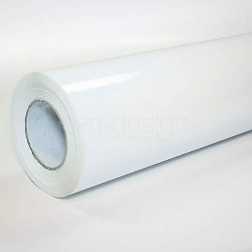 o7g-design Folie Weiß Hochglanz Türfolie Klebefolie Weiß Hochglanz Möbelfolie Dekofolie Küchenfolie Schrankfolie Tischfolie BLASENFREI bekleben | Weiß Hochglanz 2m x 1,06m breite (5,66€/m²)