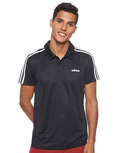 adidas Herren M D2M CLA 3S PO Polo Shirt, Black/White, XL