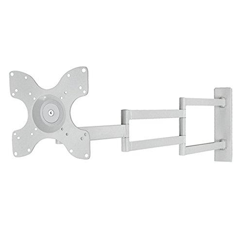 Supporto da parete per TV DQ Rotate, standard VESA, completamente girevole, orientabile, inclinabile, girevole, per schermi piatti medi e grandi, supporto TV (XL, Bianca)