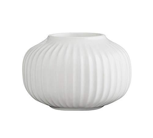 Kähler Teelichthalter, Keramik, Weiß, 6,5 x 10 cm