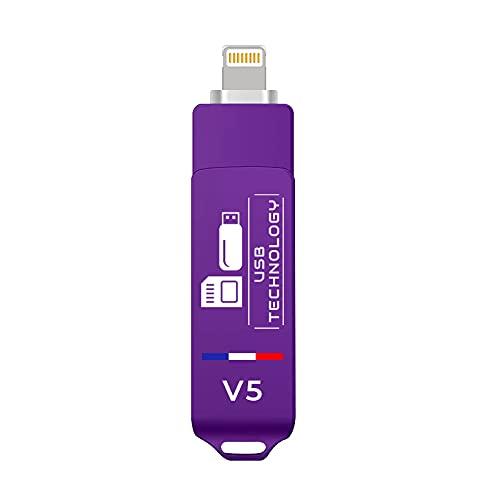 Memoria USB de 512 GB – USB 3.1 – Compatible con iPhone – V5 – Metal – Ultra rápido – Excelente calidad