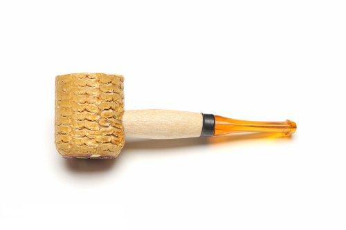 Missouri Meerschaum Mini Varnished Gold Stem Corncob Tobacco Pipe