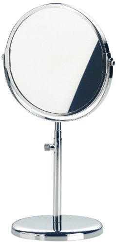 Kela 49302 Standspiegel, 1-/3-fach Vergrößerung, Ø 17cm, Metall, Julia, Verchromt