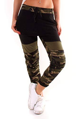 OSAB-Fashion 5399 Damen Jogging Hose Joggpants Sporthose Fitness Trainingshose Camouflage Streetwear