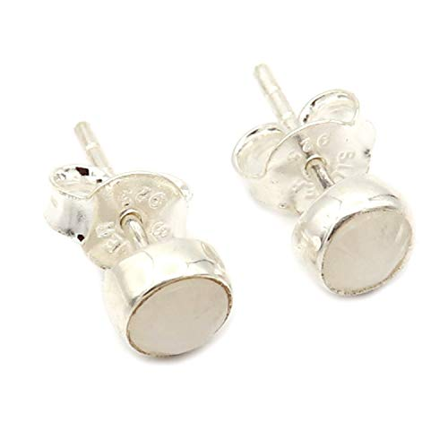 Pendientes de piedra lunar, pendientes de plata, pendientes de piedra lunar gris, pendientes de piedras preciosas, joyas de plata de piedra lunar natural, regalo