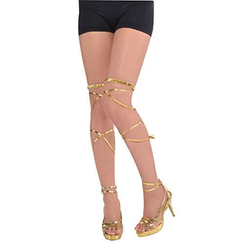 Amakando Riemchen für Schuhe Römerin / Gold / Kostüm-Accessoire Griechische Göttin / Bestens geeignet zu Fasching & Karneval