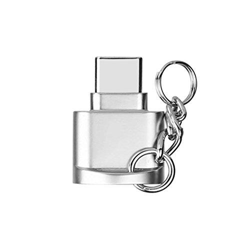 AXYO Type-C カードリーダー MicroSD カード対応 タイプC メモリーカードリーダー OTG 変換アダプタ 汎用 USB Type-Cポートのデバイスに対応 シルバー