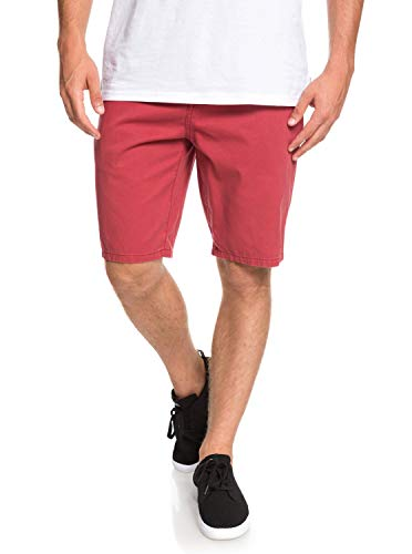 Quiksilver Herren Everyday Chino Light Short Walk, Ziegelrot, 30