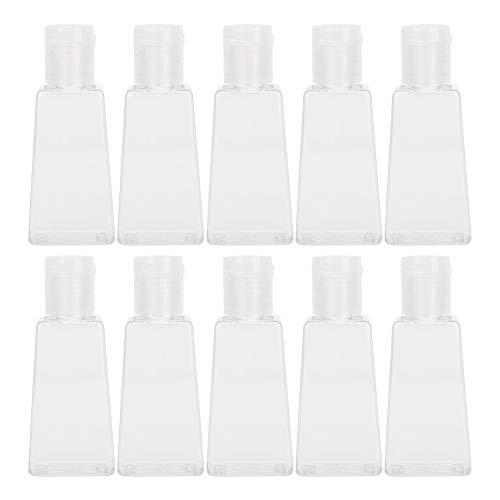 Diseño de cubierta transparente y a prueba de polvo respetuoso con el medio ambiente Botella de bomba rellenable con fugas y gota para dispensar diluyente, botella de plástico duradera