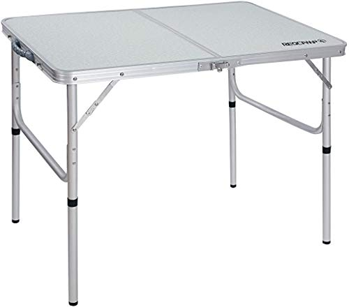 REDCAMP Aluminum Folding Table 3 Foot, Adjustable Height Lightweight Portable...