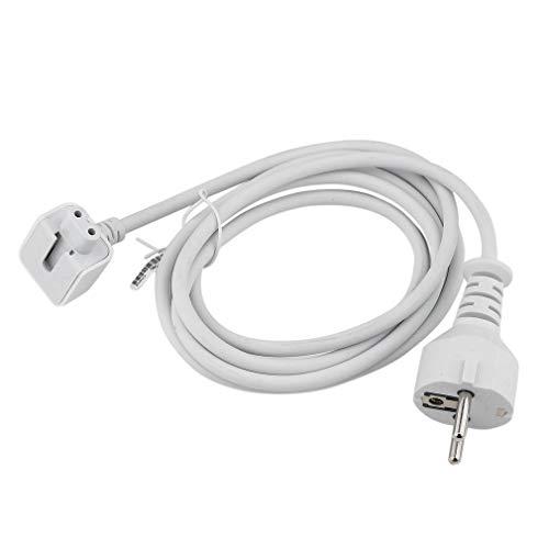 ASFD Cable de extensión Internacional Profesional para MacBook para Cable de Cargador Profesional Adaptador de Cable de alimentación Enchufe de EE. UU. / UE/AU (Blanco UE)