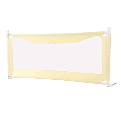 FCXBQ Barrière de lit de sécurité pour bébé Baby Safety, pour Enfants, Tout-Petit, 80cm de Hauteur (Couleur: Jaune Citron, Taille: 1,8 m)