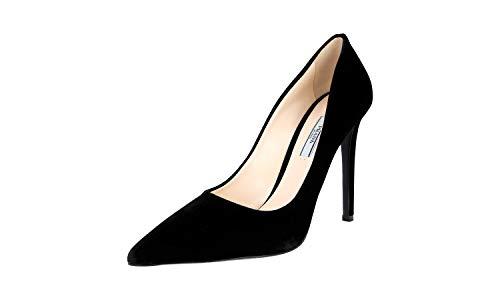 Prada Women's 1I939F Black Leather Pumps/Heels US 10 / EU 40