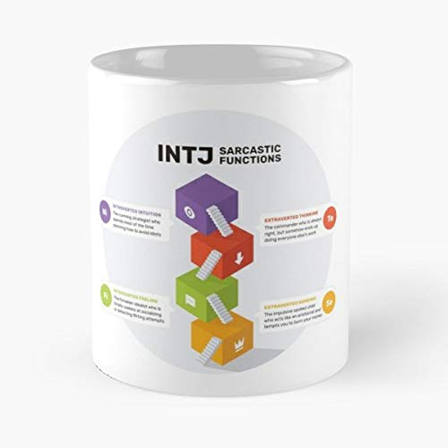 Intj Mbti Myers Cognitive Psychology Personality Functions Funny Sarcastic Introvert Introverts Coffee Best 11 oz Kaffee-Becher - Tasse Kaffee Motive
