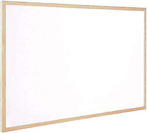 CABLEPELADO Pizarra melamina Q-connect marco madera 120 x 90 cm Blanco