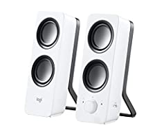 Rich stereo sound - 10 Watts peak/5 watts RMS power produces room-filling sound. Each speaker has one active/powered driver that delivers full range Audio and ONE passive radiator that provides bass extension.. Adjustable bass - customize your listen...