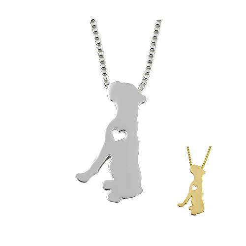 n a Boxer Perro Collar Mascota Amantes Colgante joyería Oro Colores Plateados Entrega rápida