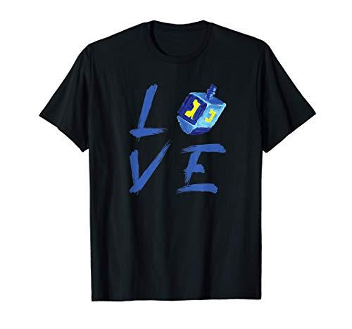 Love Hanukkah Shirt Jewish Holiday Dreidel T-Shirt