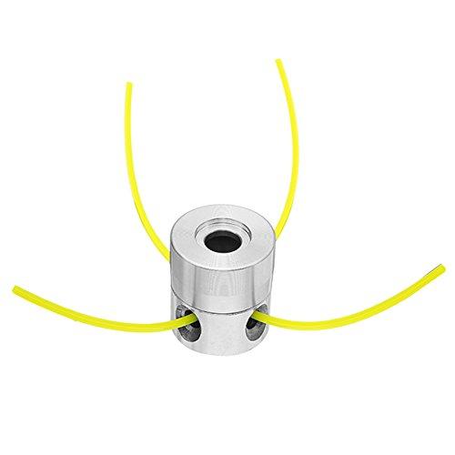 ZOYOSI Cabezal de corte de césped de aluminio con 4 líneas de cepillo cortador de cabezal de cortacésped accesorios para desbrozadora