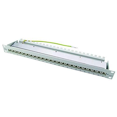 Preisvergleich Produktbild TELEGÄRTNER J02023S0050 Patch Panel Kat.6A (tief),  24xRJ45 schwarz