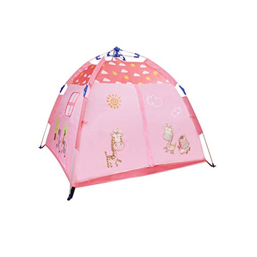 HWZPPP KJZhu Girls' Or Boys'Play Tent,Foldable Camping Tent Toddlers Playhouse Automatic Cartoon Tent (Blue, Pink) Marine Ball Pool Foldable (Color : Pink, Size : 120 * 120 * 110CM)