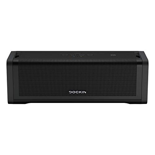 DOCKIN D FINE+ 2 Hi-Fi Bluetooth Lautsprecher 50W, Stereo HiFi Speaker, Wireless, starker austauschbarer Akku (9.600 mAh) 16 Std, integrierte Powerbank, Bass Boost Equalizer