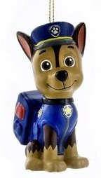 Nickelodeon - Official Paw Patrol Ornaments: Chase, Marshall, Rubble, Rocky, Skye, Zuma (Chase)