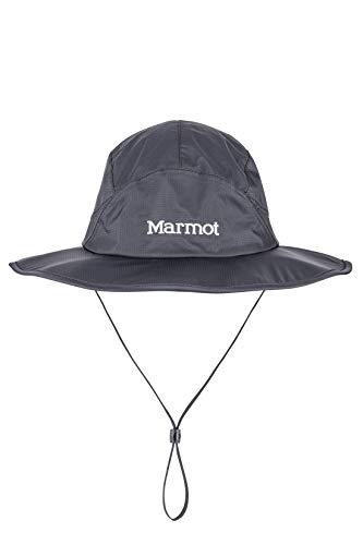 Marmot Precip Eco Safari Hat Casquette Safari Hardshell, Coiffe pour Le Temps Ensoleillé, imperméable à l'eau Black FR: XL (Taille Fabricant: XL/XXL)