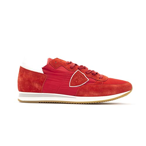 Philippe Model Sneakers Uomo Tropez L Dmondial Scarpa Made in Italy TRLUW (Rosso, Numeric_43)