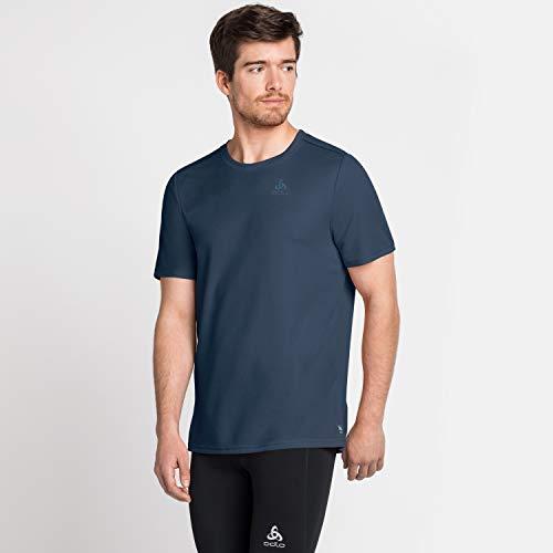 Odlo Maglietta da Uomo S/S Crew Neck F-Dry, Uomo, T-Shirt, 550672, Navy, M