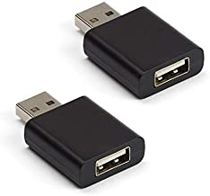 C-Slide USB Data Blocker Black 2 Pack - Blocks Unwanted Data Transfers and Keeps Your Smartphone Safe - Charge Your iPhone, Android or Smartphone Device Safely