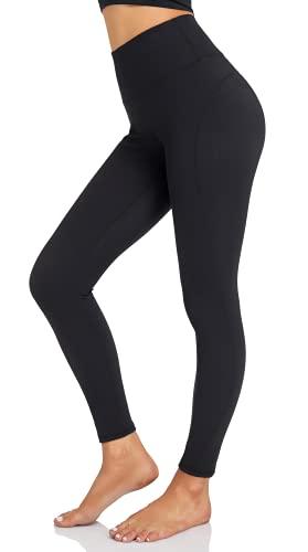 YADIFEN Damen Sport Leggings Figurformende Sporthose mit Taschen Blickdicht Lange Leggins Fitnesshose für Gym Yoga Training(M)