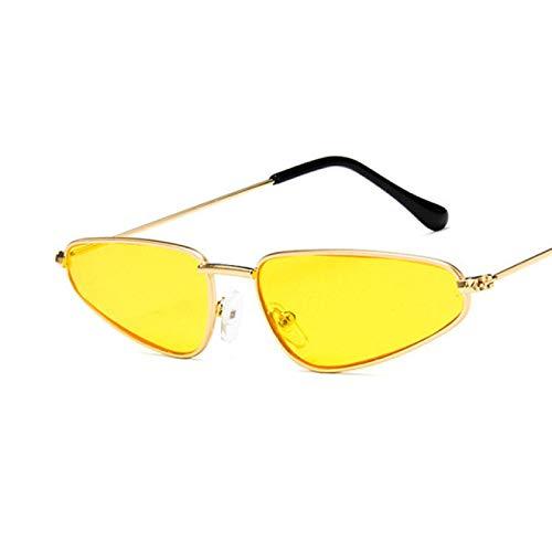HAOMAO Diseñador de la Marca Vintage Small Metal Cat Eye Gafas de Sol para Mujer C6