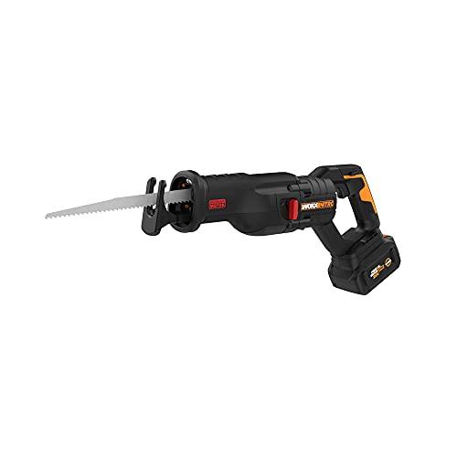 Worx Nitro WX516L 20V Power Share PRO 4.0Ah Cordless Reciprocating Saw with Brushless Motor