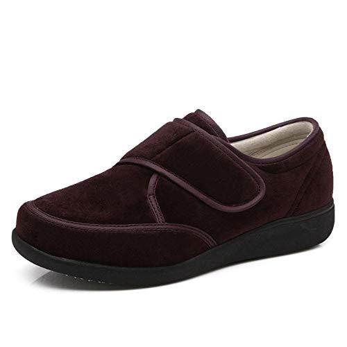Diabetische pantoffels voor heren met traagschuim, verstelbare casual sportschoenen, schoenen voor diabeteszorg-red_UK3.5, diabetische pantoffels met brede pasvorm