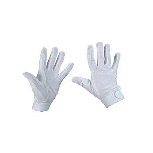 Kerbl Reithandschuhe, Jersey-Baumwolle Handschuhe Noppen, weis, S